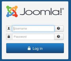 Installing Joomla, Adminstrator login